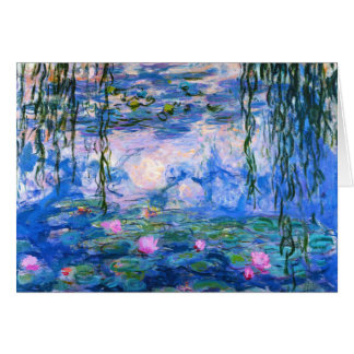 Monet Water Lilies Greeting Card