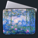 """Monet Water Lilies Laptop Sleeve<br><div class=""""desc"""">Monet Water Lilies Laptop Sleeve. Oil painting on canvas from 1916. Monet painted his famous water lily pond obsessively during the final years of his career, drawing inspiration from the light of the sun and its shifting effect on the water and the aquatic flowers and foliage. This painting features a...</div>"""