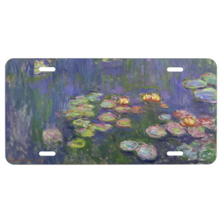 Monet Water lilies License Plate