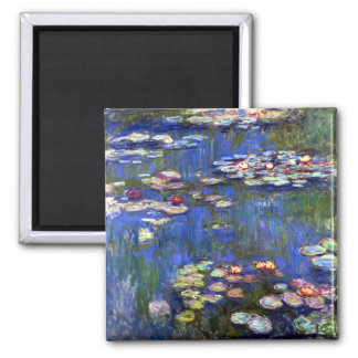 Monet Water Lilies 2 Inch Square Magnet