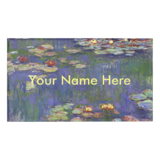 Monet Water lilies Name Tag