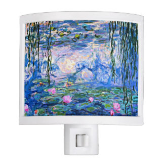Monet - Water Lilies (pink) Night Light