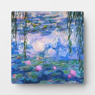 Monet Water Lilies Plaque