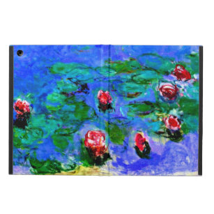 Monet   Water Lilies (red), Claude Monet Painting Cover For IPad Air