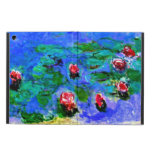 Monet - Water Lilies (red), Claude Monet painting iPad Air Covers