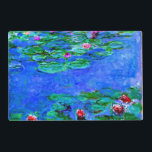"""Monet - Water Lilies (Red) Placemat<br><div class=""""desc"""">Claude Monet painting,  Water Lilies (red)</div>"""
