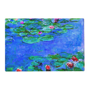 Monet Water Lilies Red Placemat