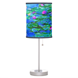 Monet - Water Lilies (red) Table Lamp