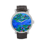 Monet - Water Lilies (red) Watches