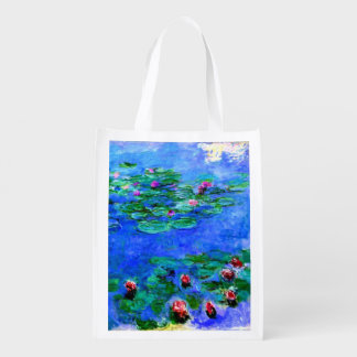 Monet - Water Lilies (red) Market Totes
