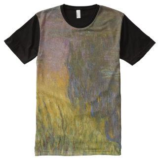 Monet Water Lilies Setting Sun Fine Art All-Over-Print T-Shirt