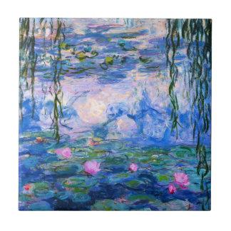 Monet Water Lilies Tile