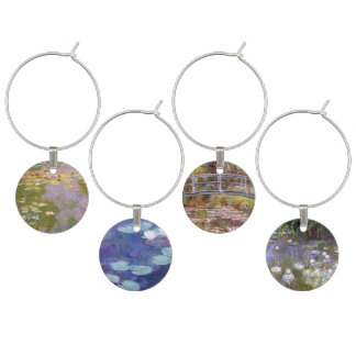Monet Water Lilies Wine Charm