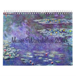 Monet Water Lillies 2016 Calendar