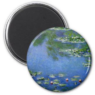 Monet Water Lillies 2 Inch Round Magnet