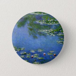 Monet Water Lillies Button