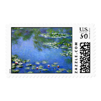 Monet Water Lillies Postage Stamps