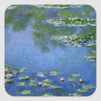 Monet Water Lillies Square Sticker