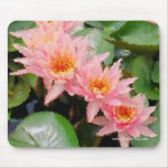 """Monet"" Water Lily Cluster Mousepad"
