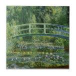 MONET Water Lily Pond 1897 ceramic tile coaster