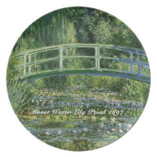 MONET Water Lily Pond 1897 melamine Plate