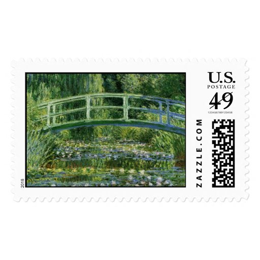 MONET Water Lily Pond 1897 postage stamp