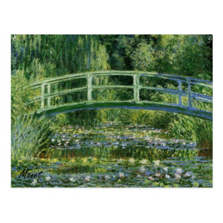 MONET Water Lily Pond 1897 Postcard