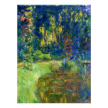 Monet - Water Lily Pond at Giverny Print