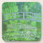 MONET Water Lily Pond Cork Coaster Green