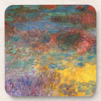 Monet Water Lily Pond Evening Coasters