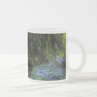 MONET Water Lily Pond frosty mug  WEEPING WILLOWS