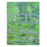 MONET Water Lily Pond Journal Symphony in Green Spiral Note Books