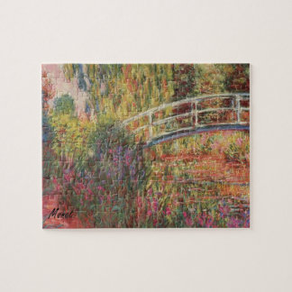 MONET Water Lily Pond Puzzle with tin WATER IRISES