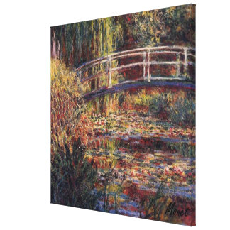 MONET Water Lily Pond Rose Stretched Canvas Print