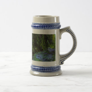 MONET Water Lily Pond Stein WEEPING WILLOWS Mugs