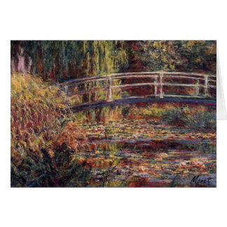 MONET Water Lily Pond Symphony in Rose 5x7 Card