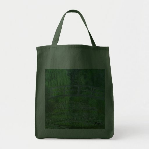 MONET Water Lily Pond Tote  Bag Symphony in Green