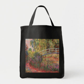 MONET Water Lily Pond Tote Bag WATER IRISES Grocery Tote Bag