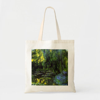 MONET Water Lily Pond TOTE  Bag WEEPING WILLOWS