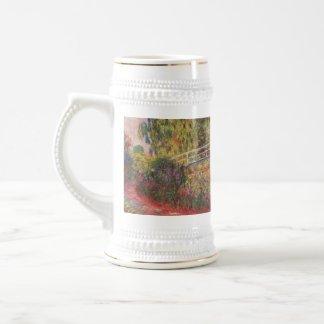 MONET Water Lily Pond: WATER IRISES Beer Stein Coffee Mug