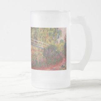 MONET Water Lily Pond: WATER IRISES Frosty Mug