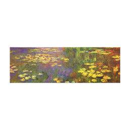 Monet Water Lilys Fine Art Canvas Print