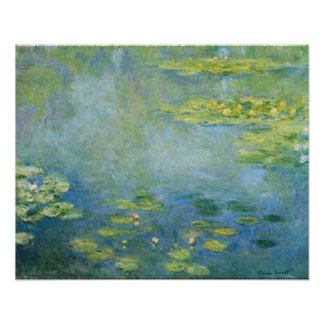 Monet Waterlilies 1906 Painting Poster