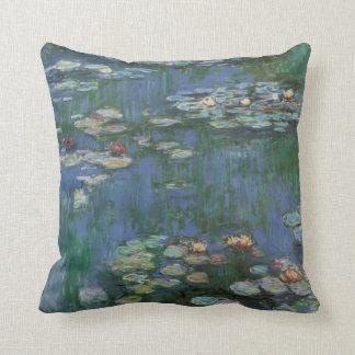 Monet-waterlilies Cojín