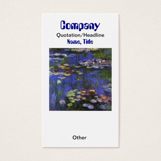 Monet Waterlilies Custom Earring Display/Business  Business Card