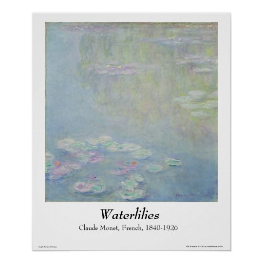 Monet - Waterlilies Poster
