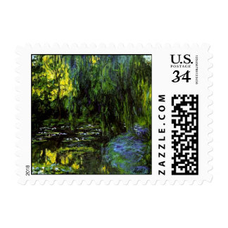 MONET Weeping Willows Postcard Postage