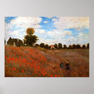 Monet - Wild Poppies Poster