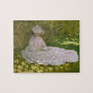 Monet Woman Reading (Springtime) Fine Art Jigsaw Puzzle