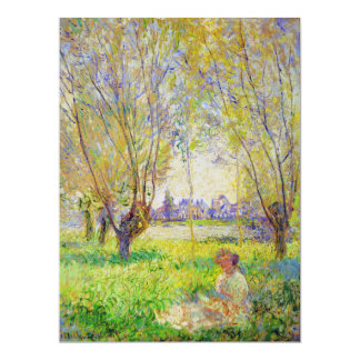 Monet Woman Seated Under The Willows Fine Art Card